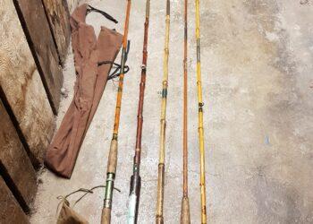 Verschiedene Bambusruten