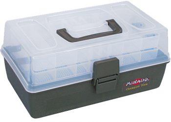 Mikado Angelkoffer 2 ladig Angelgerätebox Angelbox Kiste Klappbox Köderbox