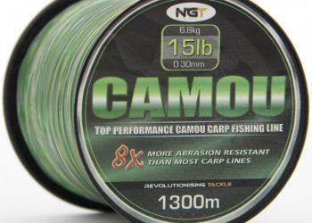NGT Schnur Camouflage 0,30mm 1300 Meter 6,80kg Karpfenschnur